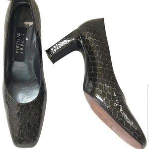 Stuart Weitzman snake skin heels
